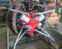 M14PF_serial_number_422003_for_UK_CJ6_conversion_(first_in_Europe)._With_engine_mount_and_exhaust_for_fitting_dynamometer