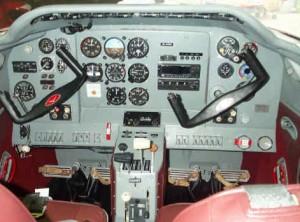 Yak 18T instrument panel